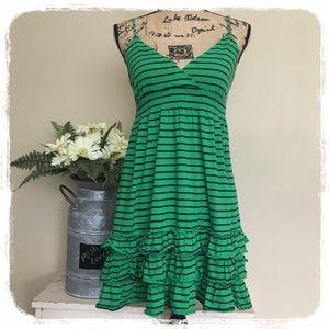 VS PINK Green/Blue Stripe Mini-Dress sz. L